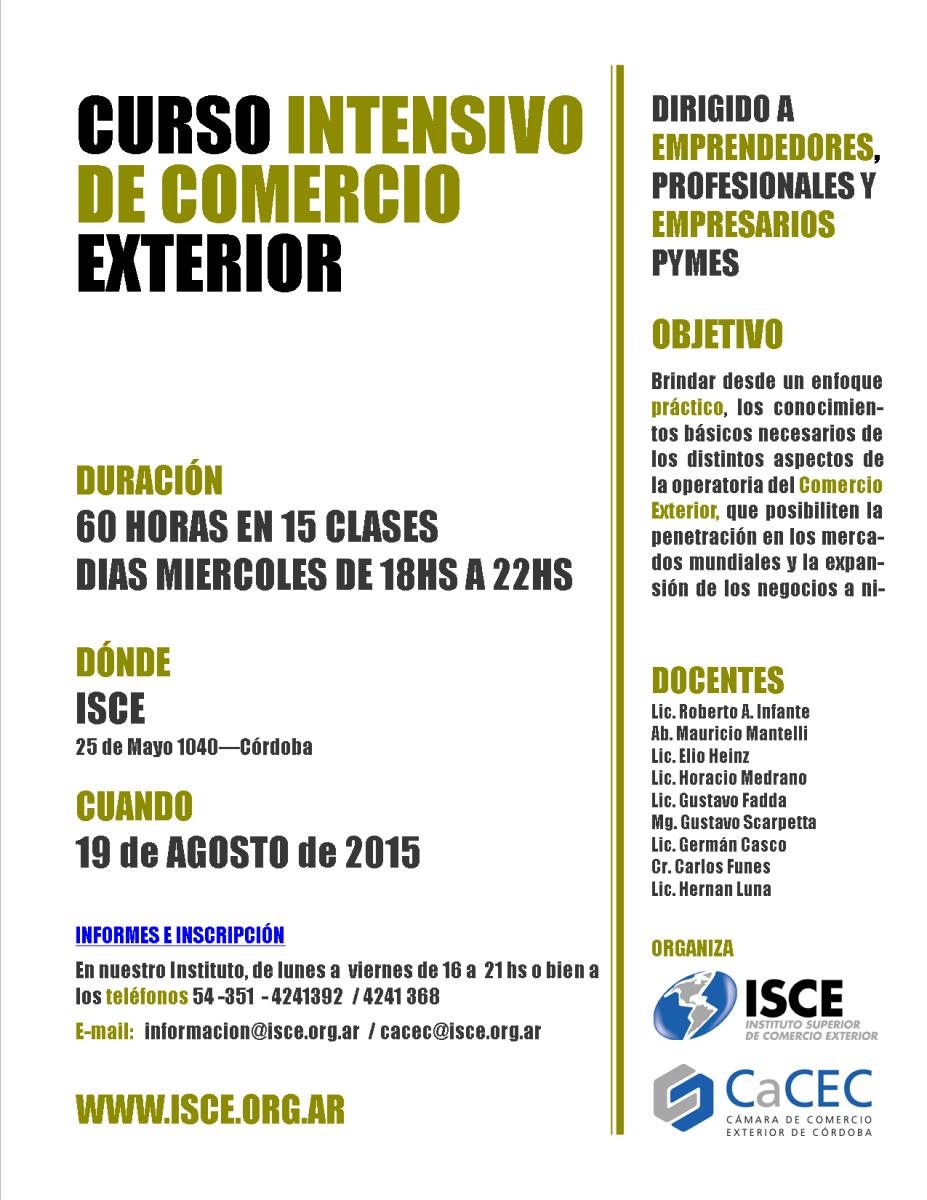 Adec curso intensivo de comercio exterior organizado por for Docente comercio exterior